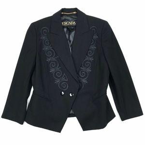 Escada Margaretha Ley Embroidered Blazer Jacket 36